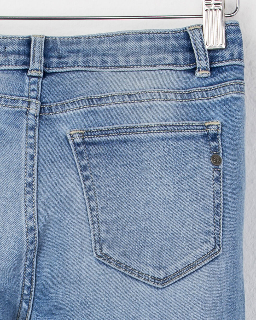 M/&s Fermeture Éclair Skinny Leg Mid Rise Jeans ~ Taille 12 Court ~ Gris
