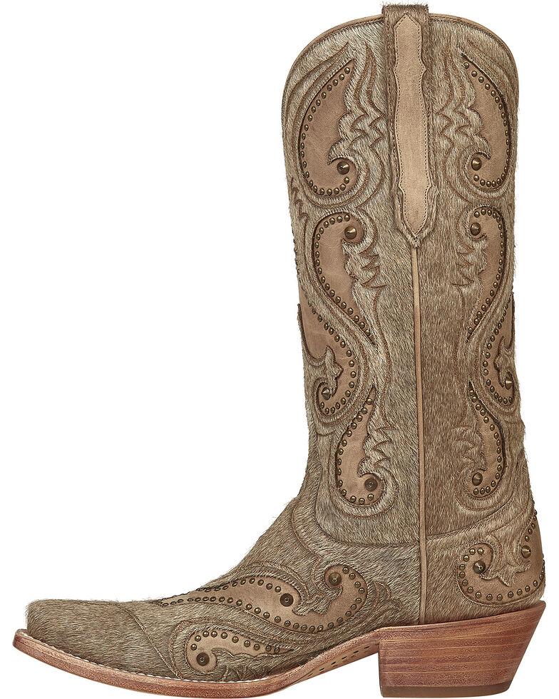 Lucchese Handmade Natural Lyla Calf Hair Cowgirl Boots - Snip Toe , Natural, hi-res