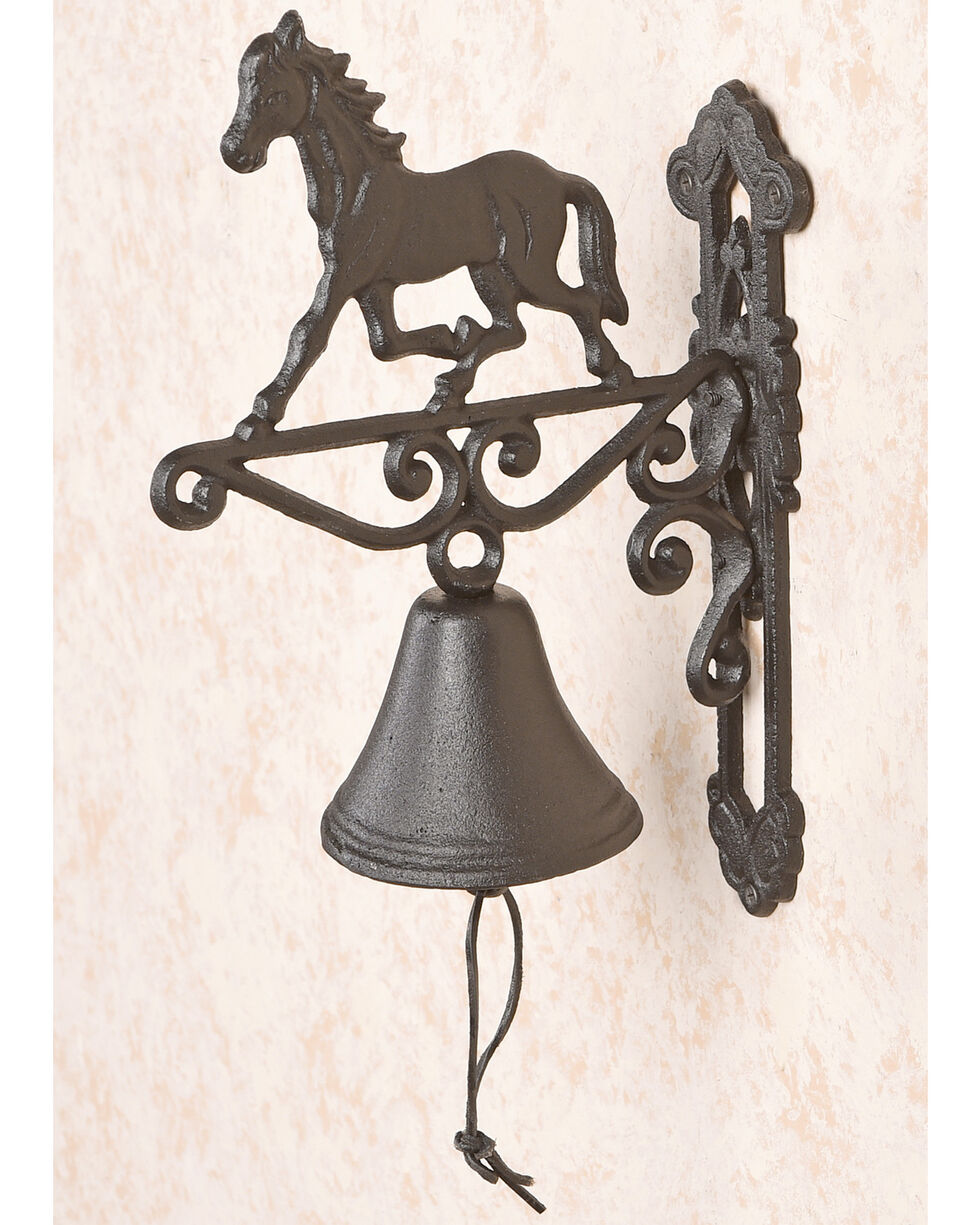 BB Ranch Cast Iron Horse Bell , Turquoise, hi-res