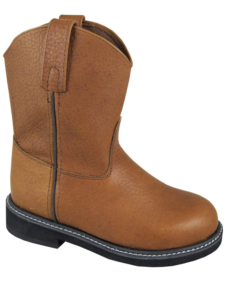 Smoky Mountain Boys' Jackson Wellington Western Boots - Round Toe, Brown, hi-res