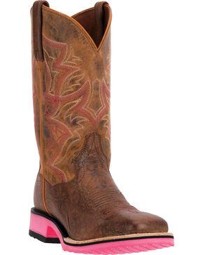 Dan Post Serrano Pink Diamond Pro Cowgirl Boots - Square Toe, Tan, hi-res