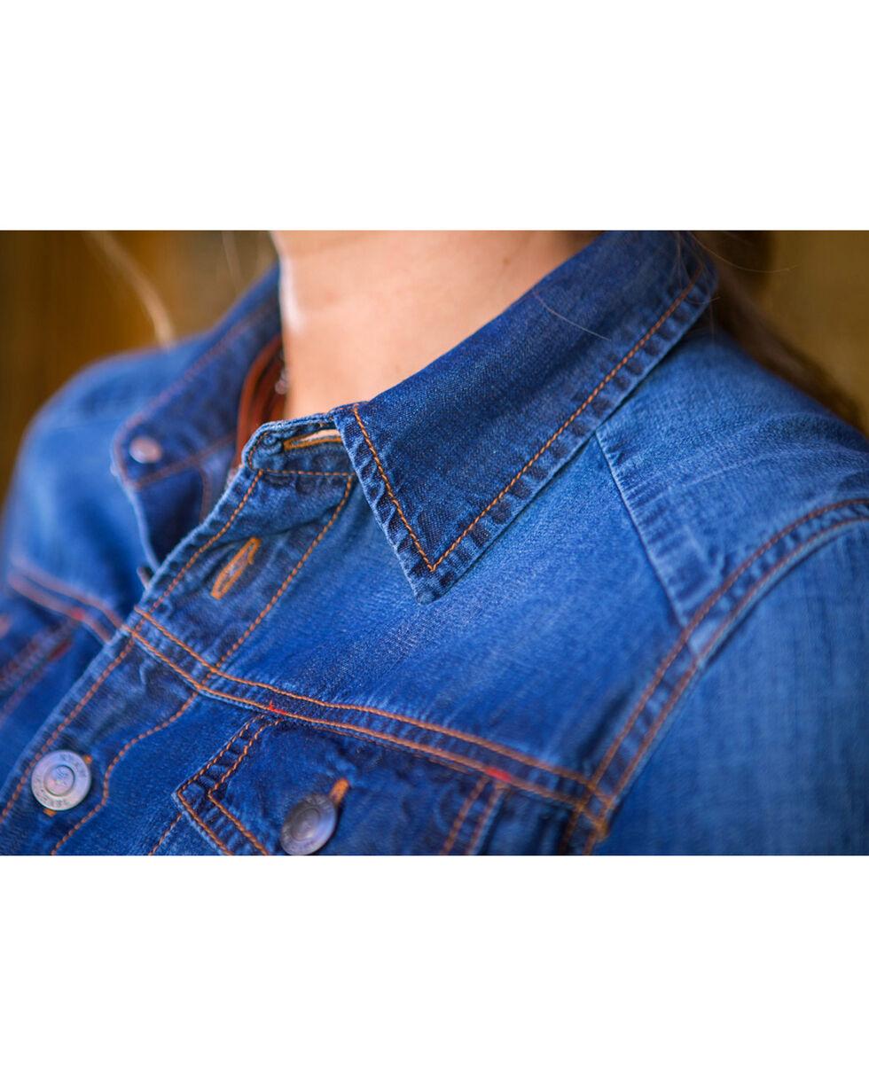 Ryan Michael Women's Indigo Jean Jacket Dress , Indigo, hi-res
