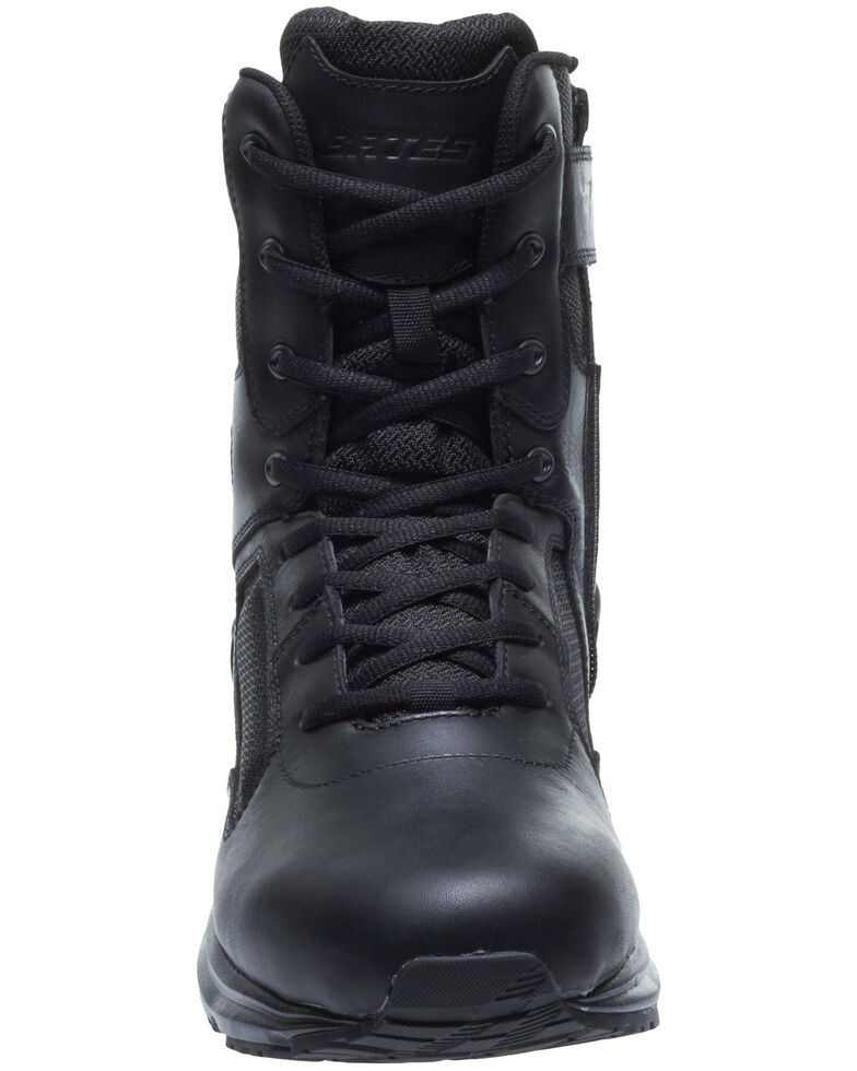 Bates Men's Raide Side Zip Work Boots - Soft Toe, Black, hi-res