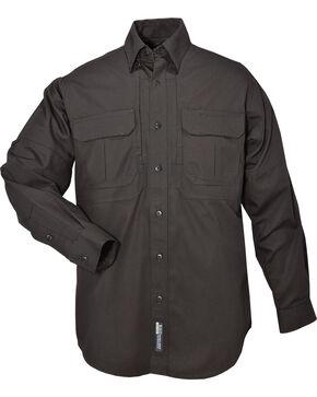 5.11 Tactical Long Sleeve Cotton Shirt - 3XL, Black, hi-res