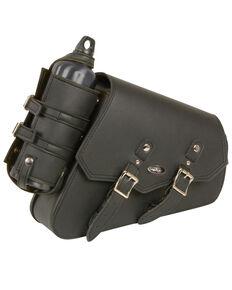 Milwaukee Leather Right Side Bottle & Gun Holder Swing Arm Bag, Black, hi-res