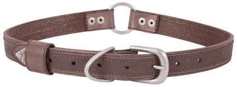 "Browning Brown Large Leather Dog Collar - Large 18 - 28"", Brown, hi-res"