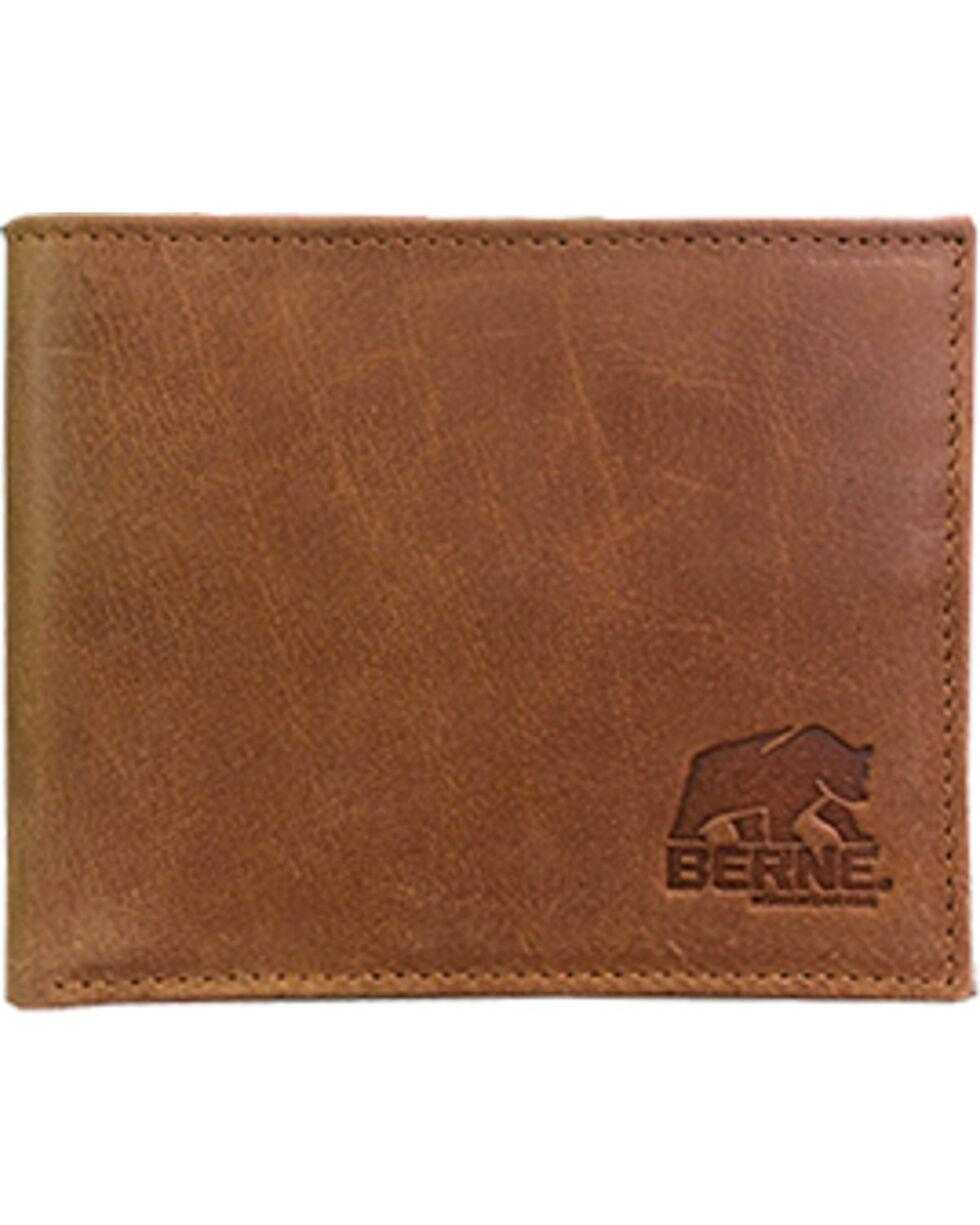 Berne Men's Tan Genuine Leather Pass Case Wallet , Tan, hi-res