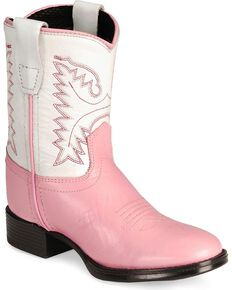 8d7d7fd3c9e2 Old West Toddler Girls Ultra Flex Pink Cowboy Boot