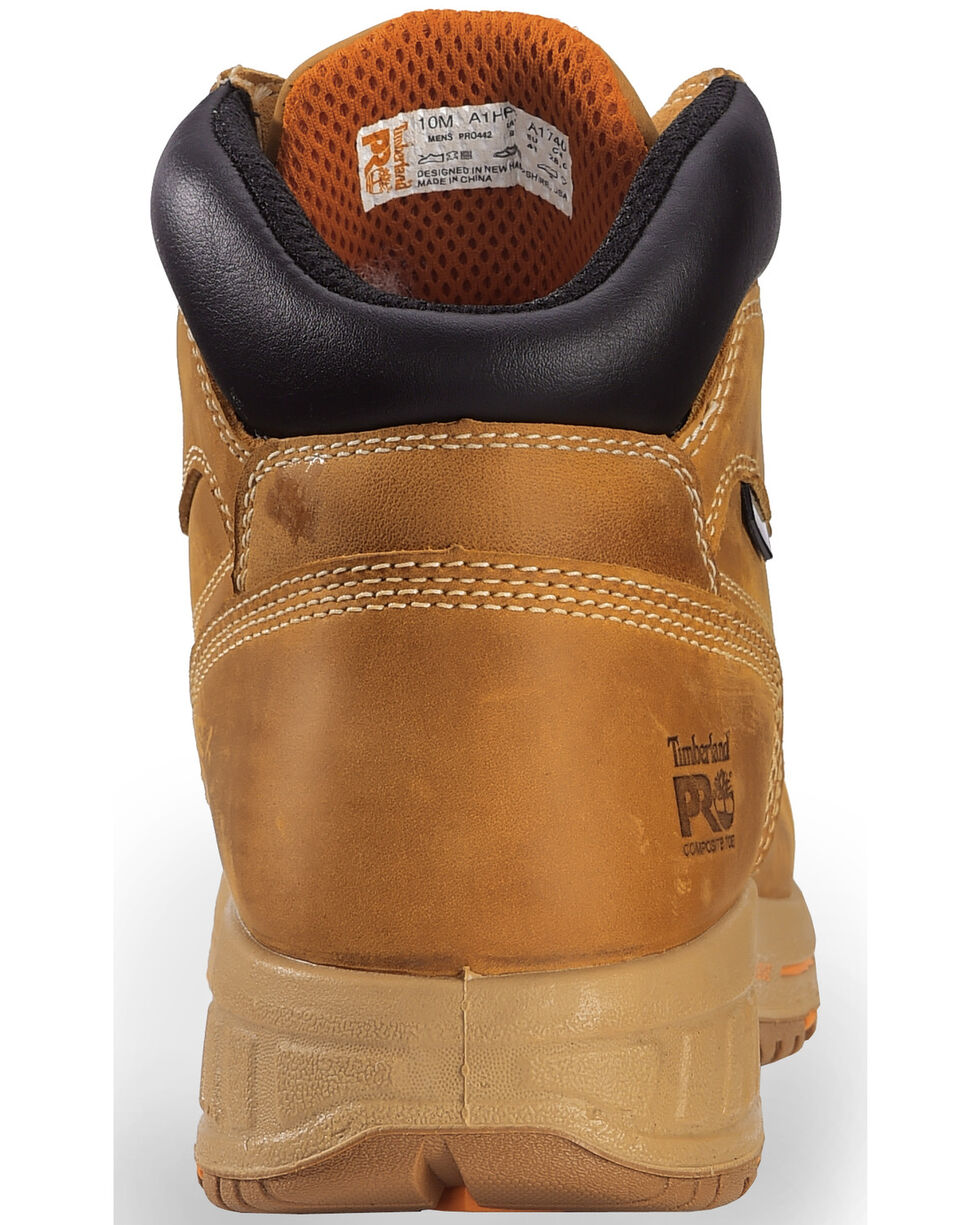 """Timberland PRO Men's Helix HD 6"""" Work Boots - Comp Toe, Wheat, hi-res"""