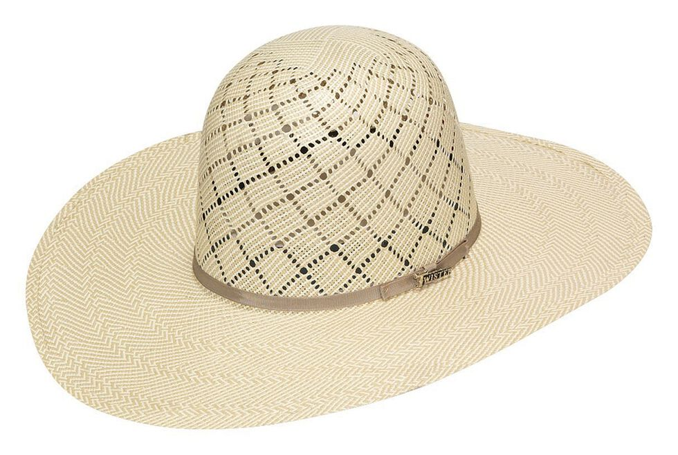 Twister 10X Shantung Open Crown Straw Cowboy Hat, Ivory, hi-res