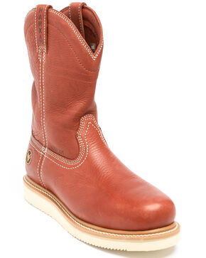 Hawx® Men's Wedge Pull-On Work Boots - Composite Toe, Red, hi-res