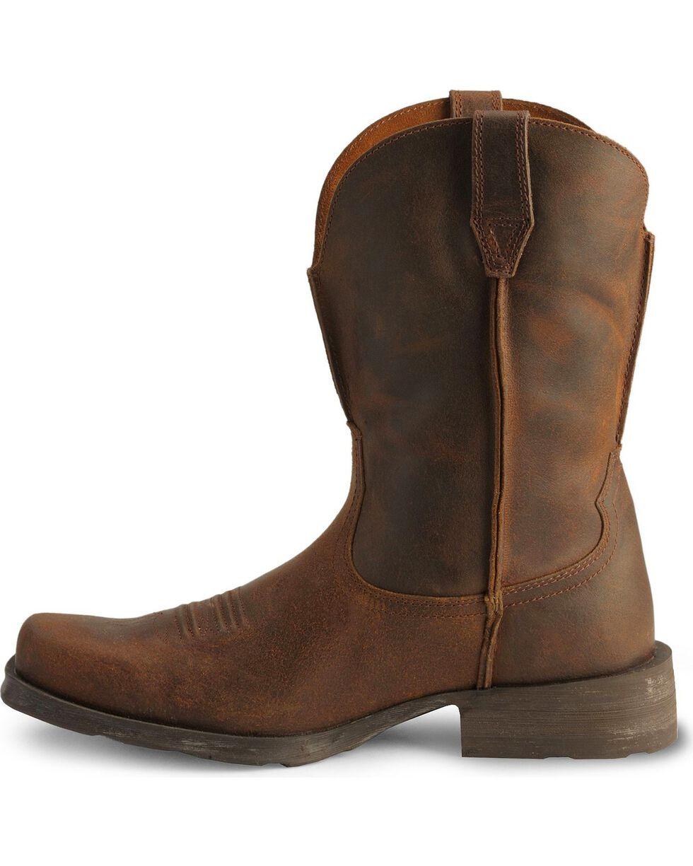Ariat Distressed Rambler Cowboy Boots - Square Toe, Moccasin, hi-res