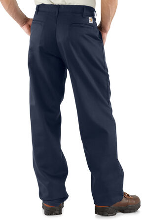 Carhartt Flame Resistant Twill Work Pants - Big & Tall, Navy, hi-res