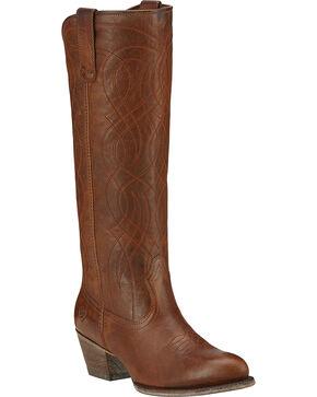 Ariat SingSong Cowgirl Boots - Medium Toe, Wood, hi-res