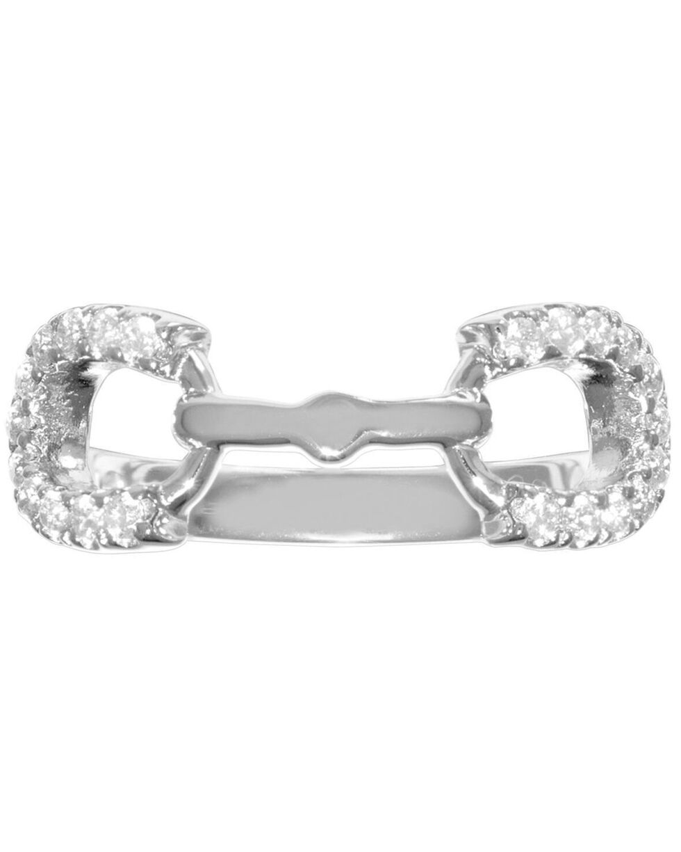 Kelly Herd Women's Silver Horseshoe Bit Ring , Silver, hi-res
