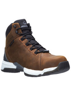 Wolverine Men's I-90 Rush Work Boots - Composite Toe, Brown, hi-res