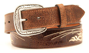 Ariat Bold Embroidered Belt, Brown, hi-res