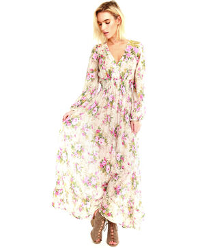 Aratta Women's Softness Floral Maxi Dress , Multi, hi-res