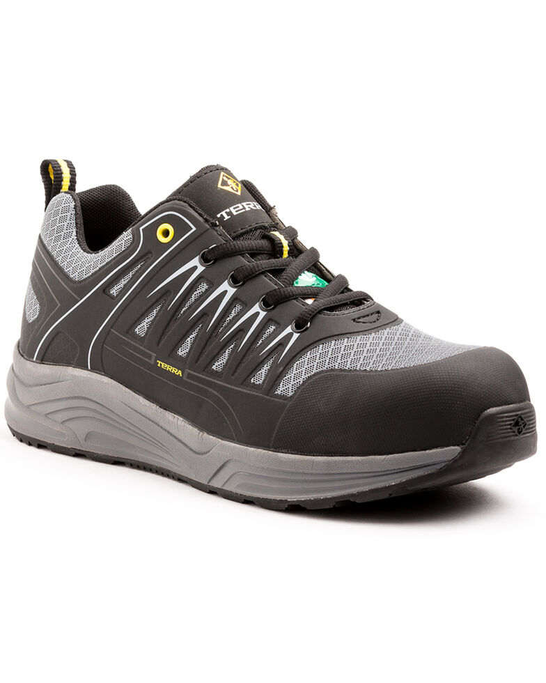 Terra Men's Rebound Work Shoes - Composite Toe, Black, hi-res