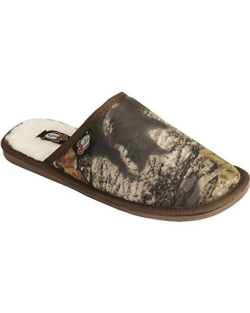 Justin Men's Camouflage Slide-On Slipper, Camouflage, hi-res