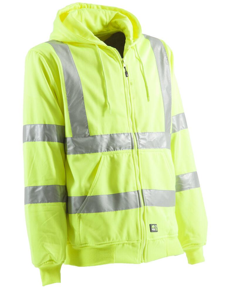 Berne Yellow Hi-Visibility Lined Hooded Jacket - Big & Tall, , hi-res