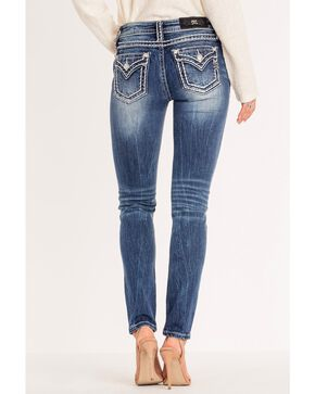 Miss Me Women's Classic Chic Border Stitch Skinny Jeans , Blue, hi-res