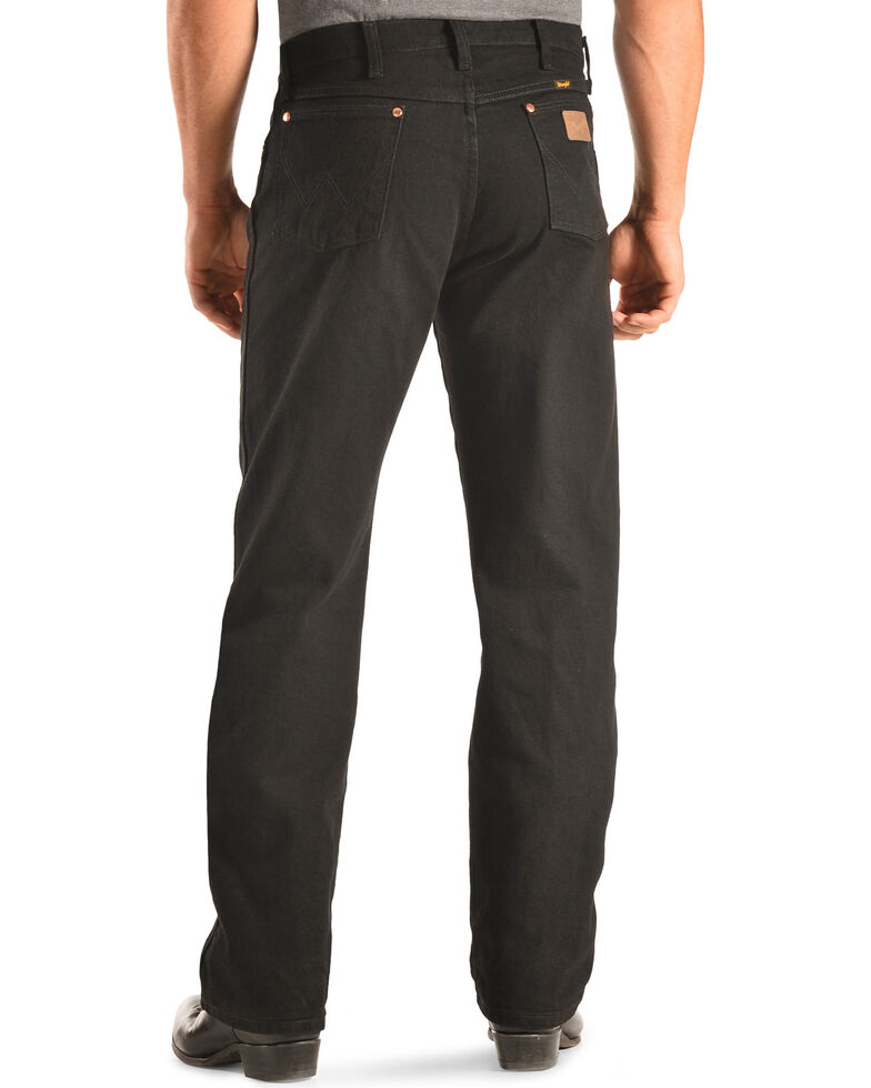 418e2318 Zoomed Image Wrangler 13MWZ Cowboy Cut Original Fit Jeans - Prewashed  Colors, Shadow Black, hi-