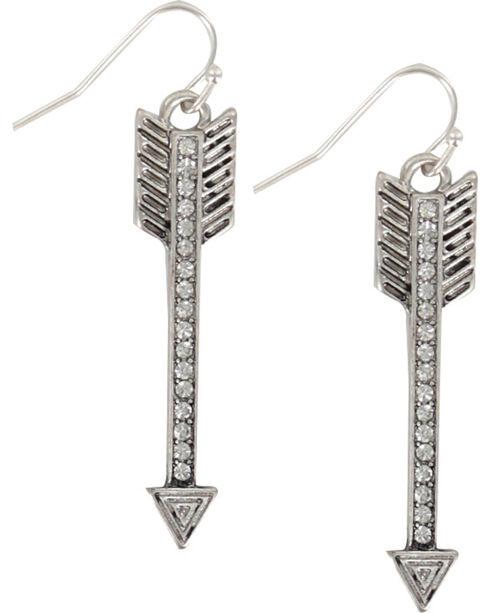 Shyanne Women's Aztec Arrow Earrings , Silver, hi-res