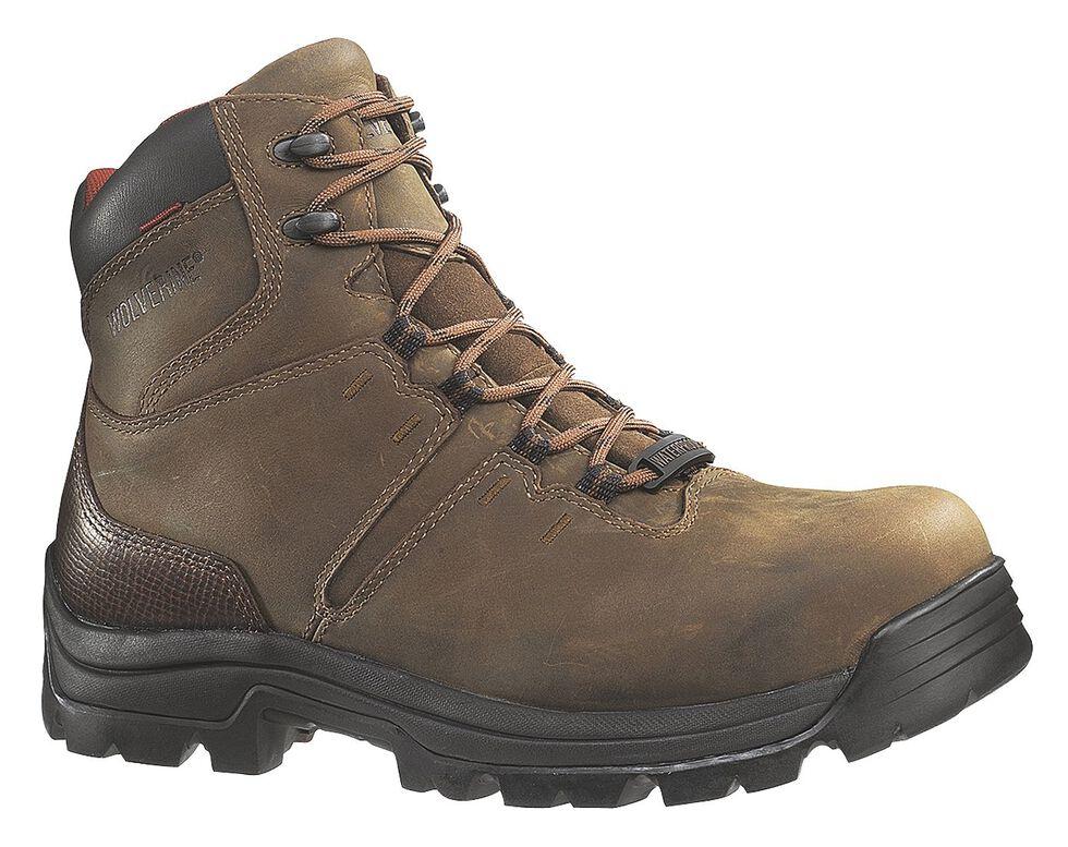 """Wolverine Bonaventure 6"""" Waterproof Work Boots - Steel Toe, Brown, hi-res"""