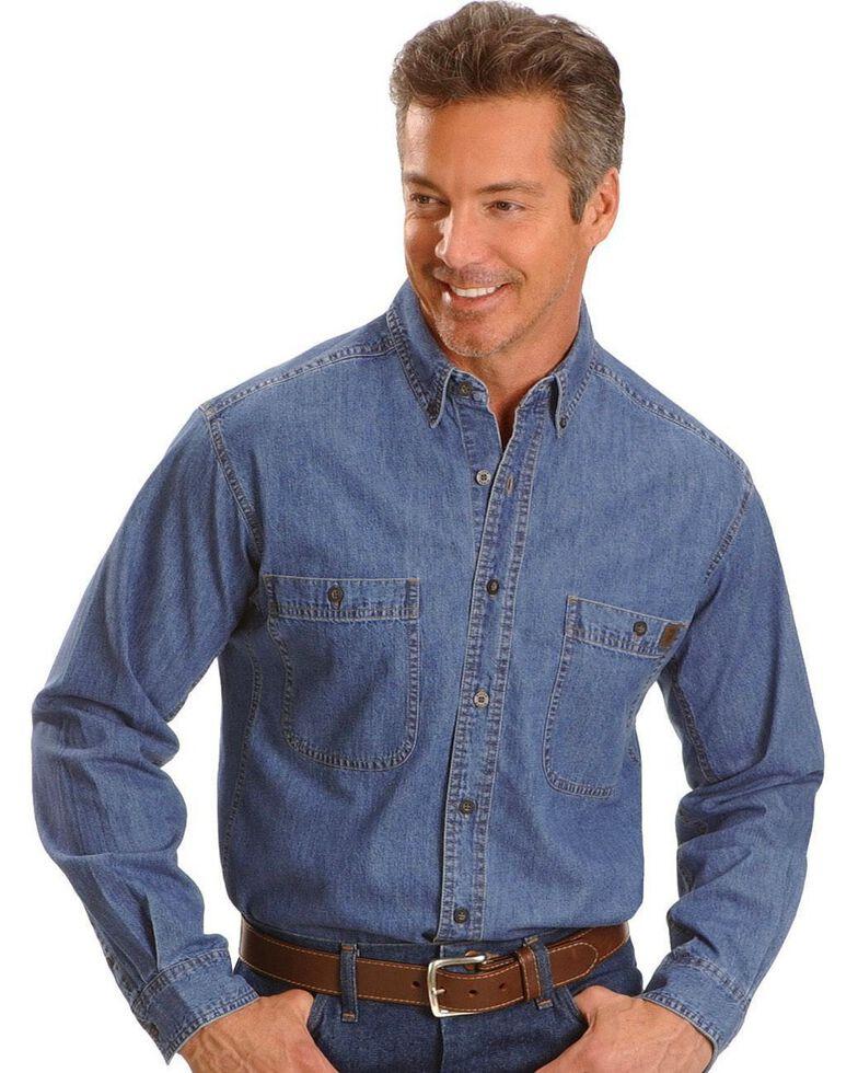 Wrangler Riggs Denim Shirt - Big, Tall, Big/Tall, Antique, hi-res