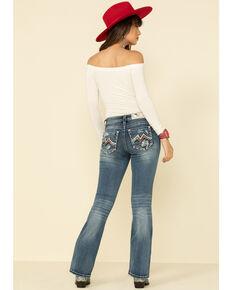 "Miss Me Women's Light Wash Americana Blowout 32"" Bootcut Jeans, Blue, hi-res"