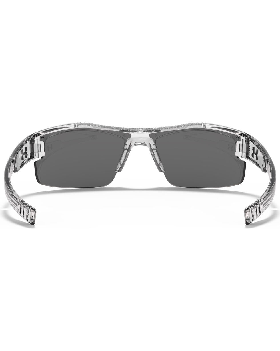 Under Armour Boys' Crystal Clear Yellow Multiflection Nitro L Sunglasses, No Color, hi-res