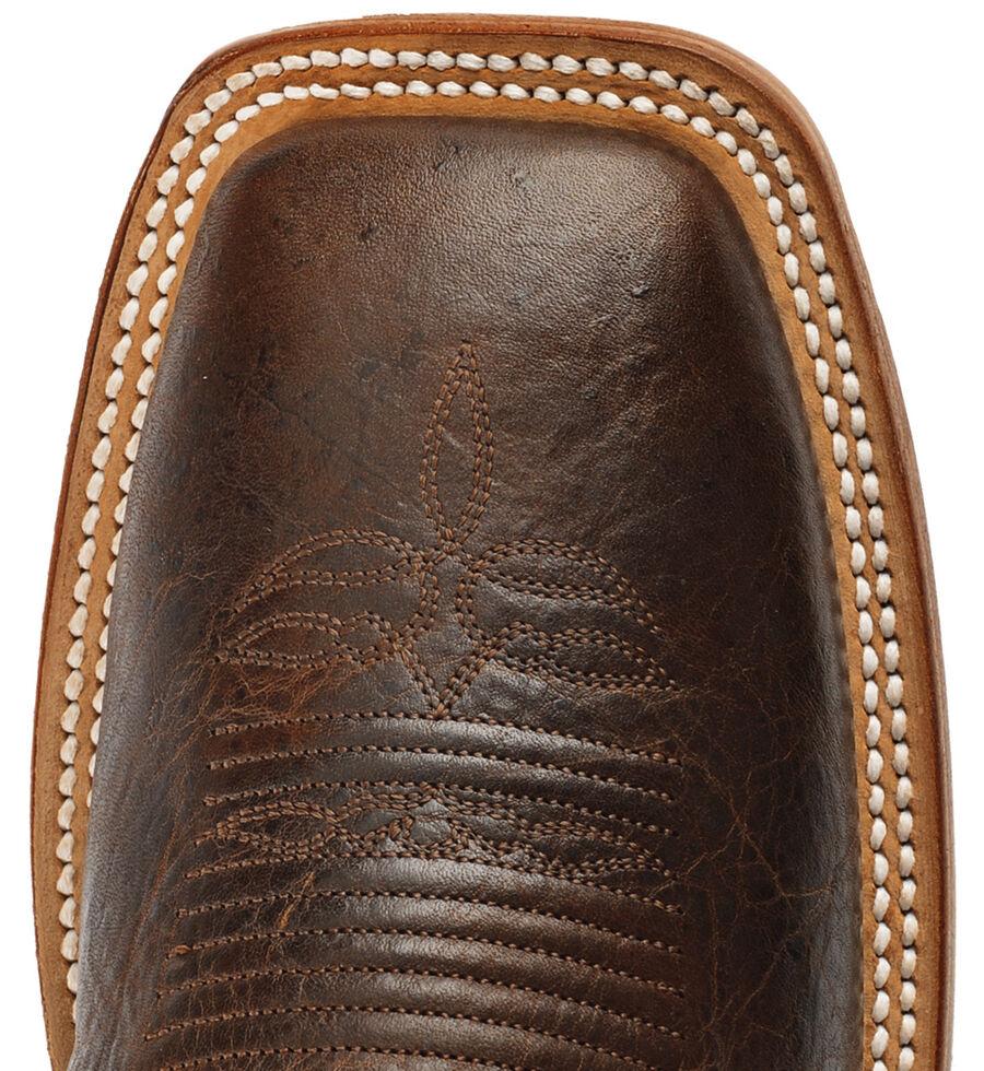 Justin Men's Don't Mess With Texas Cowboy Boots - Square Toe, Cognac, hi-res