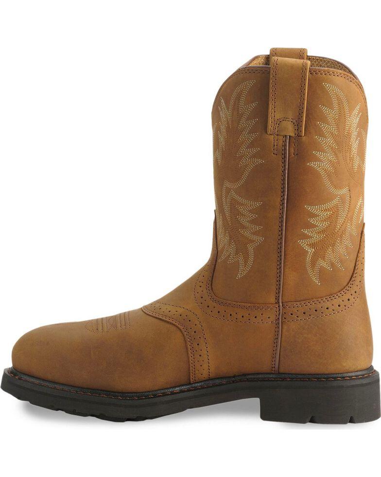 Ariat Sierra Cowboy Work Boots - Steel Toe, Aged Bark, hi-res