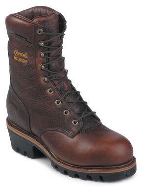 "Chippewa 9"" Insulated Waterproof Super Logger Boots - Steel Toe, Briar, hi-res"