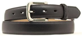 Nocona Smooth Leather Belt, Black, hi-res