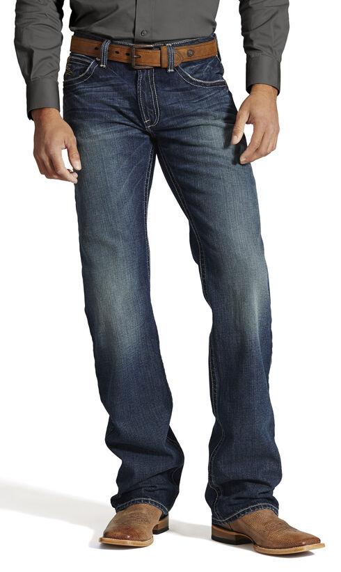 Ariat M4 Backlash Low Rise Jeans - Boot Cut, Denim, hi-res