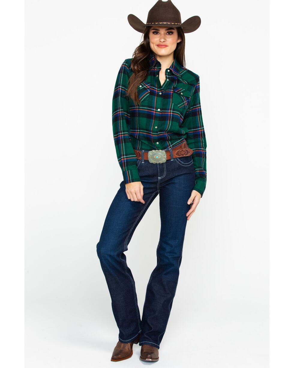 Wrangler Women's Del Mar Q-Baby Ultimate Riding Boot Jeans , Dark Blue, hi-res