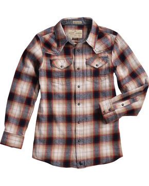 Cody James Boys' Plaid Long Sleeve Shirt , Multi, hi-res
