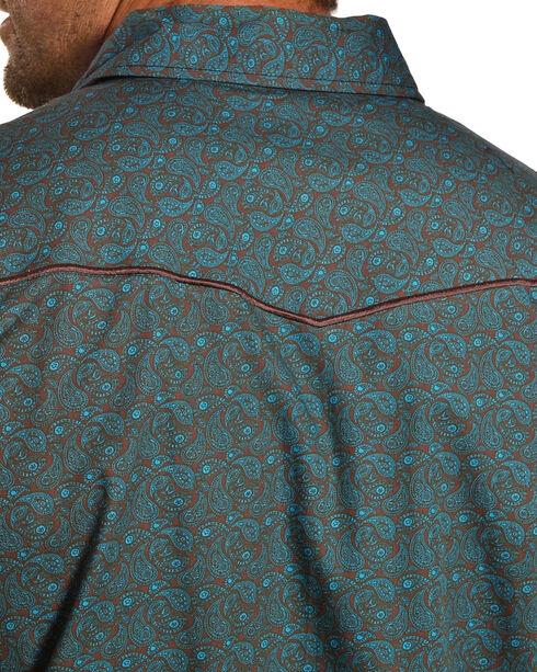 Cowboy Hardware Men's Mini Paisley Long Sleeve Western Snap Shirt, Green, hi-res