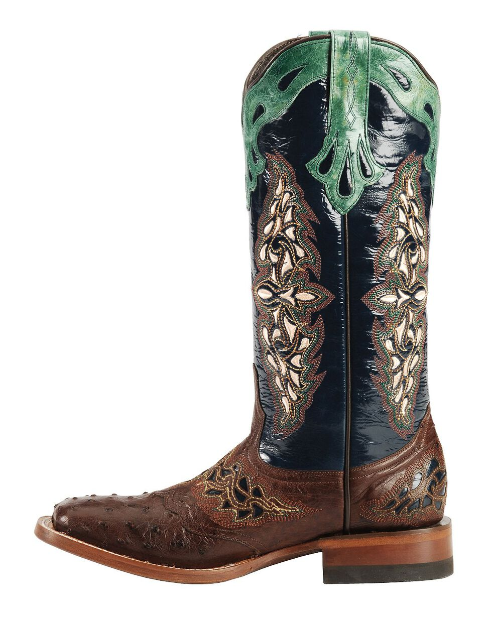 Lucchese Handmade 1883 Amberlyn Full Quill Ostrich Boots, Sienna, hi-res