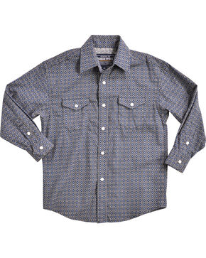 Rough Stock by Panhandle Boys' Navy Barlott Vintage Shirt , Navy, hi-res