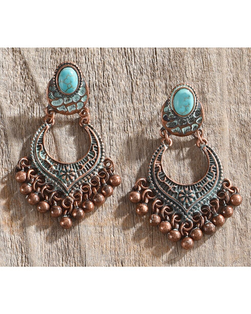 Shyanne Women's Turquoise Sage Brush Chandelier Earrings, Turquoise, hi-res
