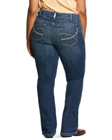 Ariat Women's Medium R.E.A.L. Carlie Bootcut Jeans - Plus, Blue, hi-res