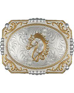 Montana Silversmiths Cameo Horse Buckle, Silver, hi-res