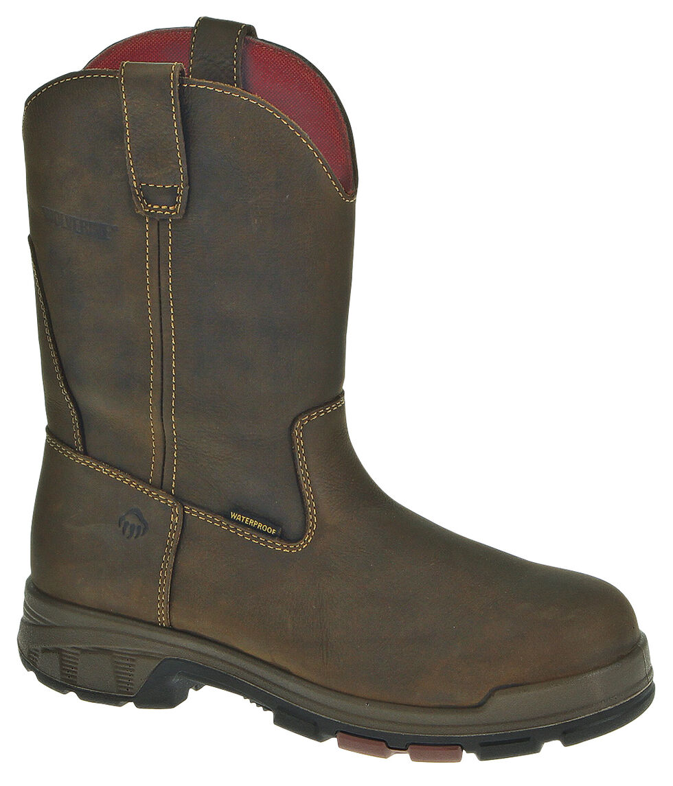 Wolverine Cabor EPX PC Dry Waterproof Wellington Boots, Coffee, hi-res