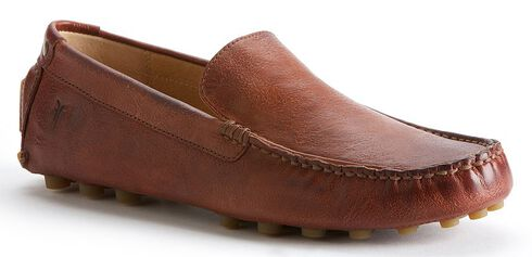 Frye Men's Russel Venetian Slip-on Shoes, Whiskey, hi-res