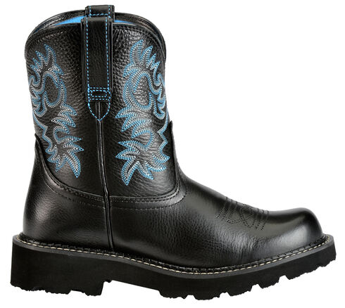 Ariat Fatbaby Black Cowgirl Boots, Black, hi-res