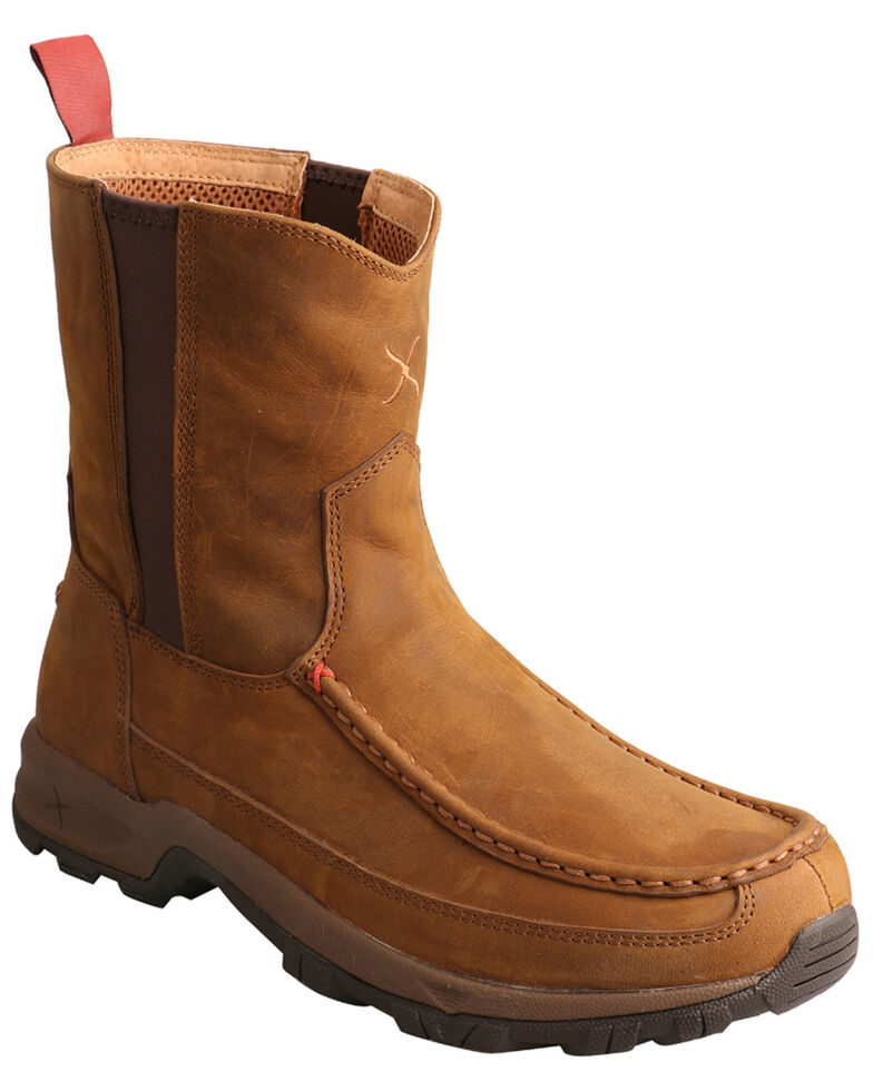 Twisted X Men's Pull-On Hiker Boots - Soft Toe, Brown, hi-res