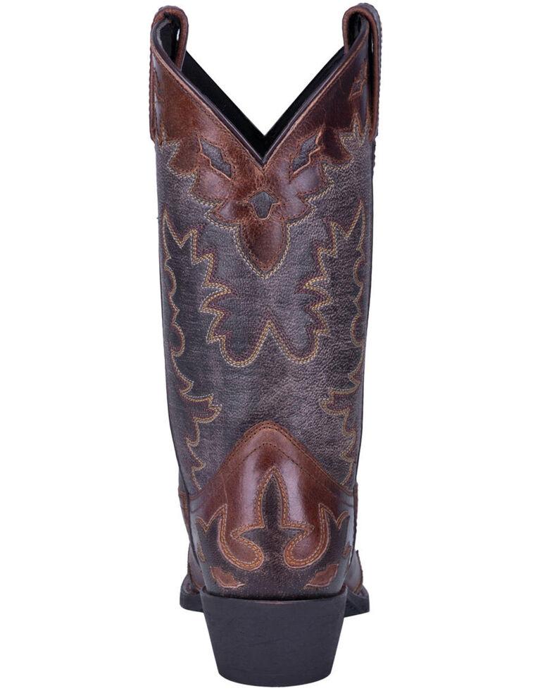 Laredo Men's Wingtip Brown Western Boots - Pointed Toe, Chocolate, hi-res